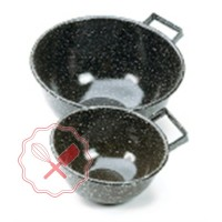 Bools de Chapa Enlozado con una Asa 24 cm.