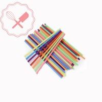 Palitos Chupetin 20cm Colores 20u