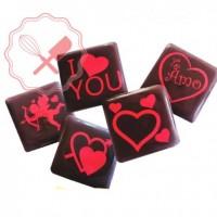 Transfers p/ Chocolate Bliser Amor-Halloween