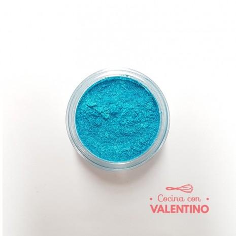 Colorante Dust Color Platinum Nacarado Turquesa