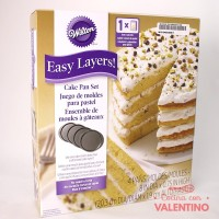 Set 4 Moldes Easy Layers Torta Varias Capas  - 20cm Wilton