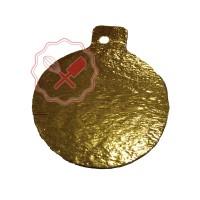 Disco Cartón Oro 8Cm C/Pestaña