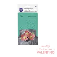 Texturador De Silicona Flores y Hojas Wilton