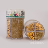 Drops Pastelar 4 Celdas - 100Grs - Dorado
