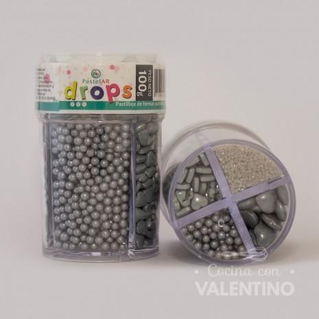 Drops Pastelar 4 Celdas Plateado - 100Grs