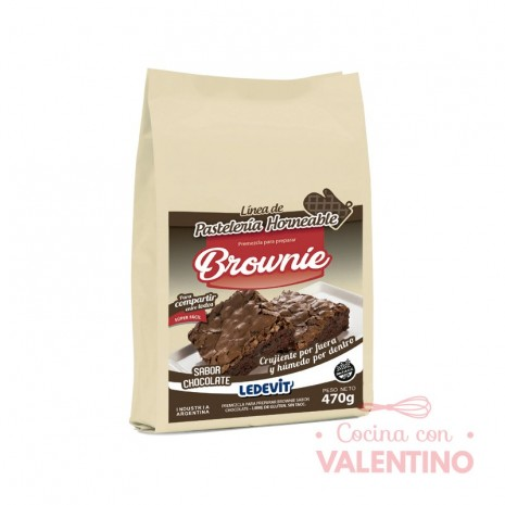 Mix Brownie Chocolate Ledevit x 470 g