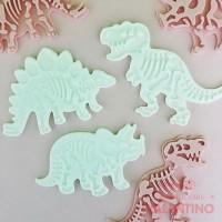 Cortantes Dinosaurios con Expulsor x3 Ruphas