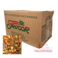 Fruta Confitada Escurrida Común Caja x10Kg.
