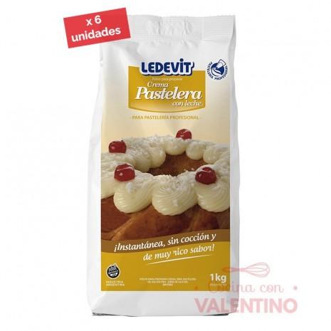 Crema Pastelera En Frio Ledevit - 1 Kg - Pack 6 Un.