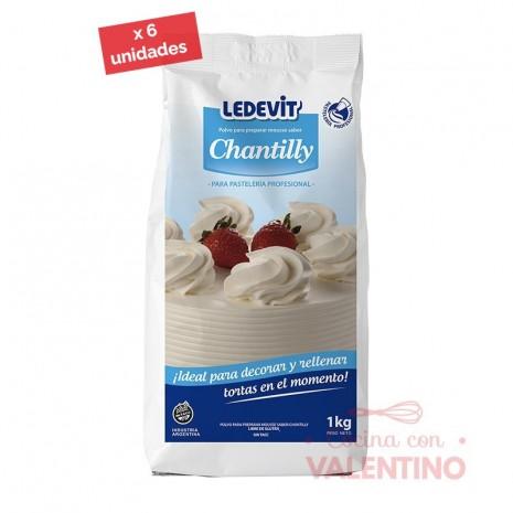 Crema Chantilly Ledevit - 1 Kg - Pack 6 Un.