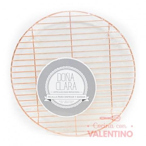 Rejilla Cobre Redonda Doña Clara - 33cm
