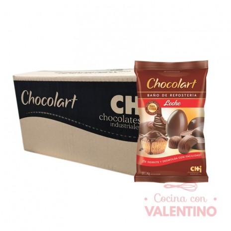 Baño de Moldeo Chocolart Leche - 1Kg - Pack 4 Un