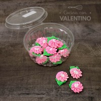 Adorno Azucar Flor Primavera c/Hoja 15U
