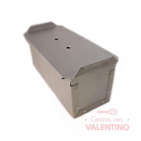 Molde Pan Lactal Acero Aluminizado 24x10x10cm Con Tapa