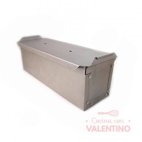 Molde Pan Lactal Acero Aluminizado 30x10x10cm Con Tapa