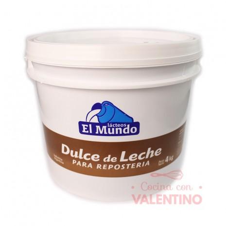 Dulce de Leche El Mundo Balde - 4Kg