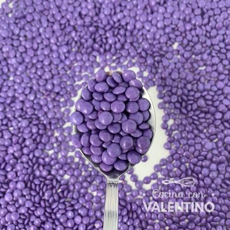 Lentejas Mini de Chocolate Violeta - 450 Grs