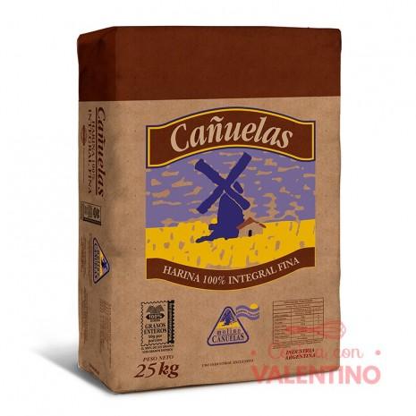 Harina 100% Integral Fina Cañuelas - 25Kg
