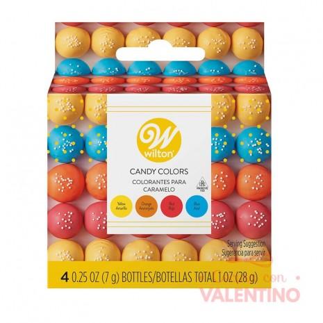 Set Colorantes Liposolubles Wilton- Amarillo. Naranja. Rojo y Azul