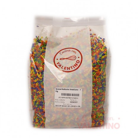 Granas Multicolor Americano - 1 Kg.