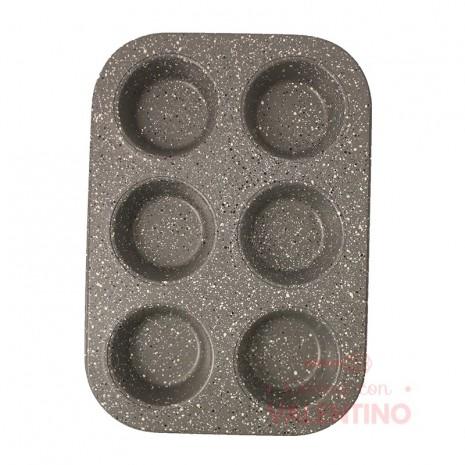 Molde Muffins Linea Gray Granit Mishka x6