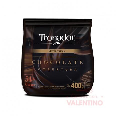 Chocolate Cobertura Semiamargo Tronador - 400Grs