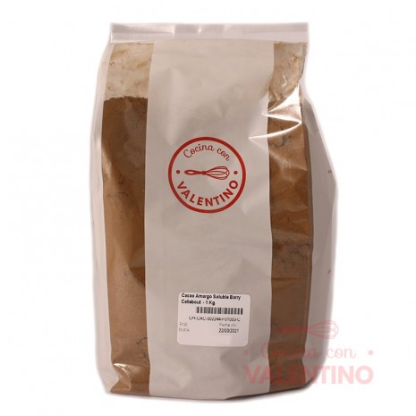 Cacao Amargo Soluble Barry Callebaut - 1 Kg.