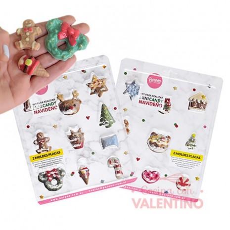 Placa Mini Candy Navideño