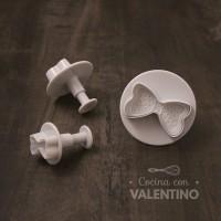 Cortantes Plastico Automatico Moños x3 - CM