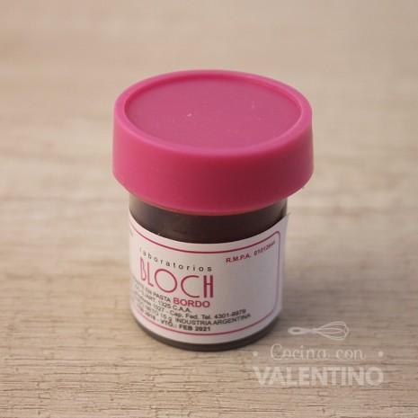 Colorante en Pasta Bloch Bordo - 15Grs