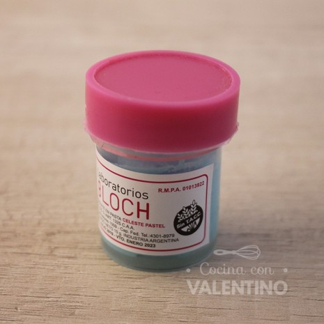 Colorante en Pasta Bloch Celeste Pastel - 15Grs