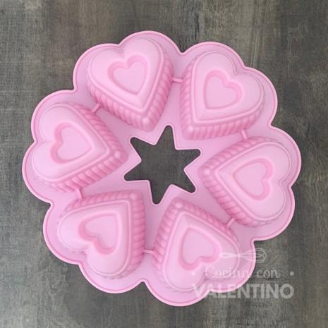 Molde Sil. Cupcakes Corazones Redondos - CM