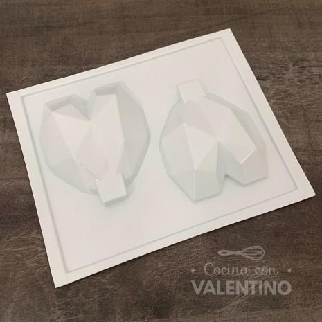 Placa Plastichok Corazon Diamante x2 1798A