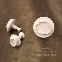Cortantes Plastico Automatico Rosas x3 - CM