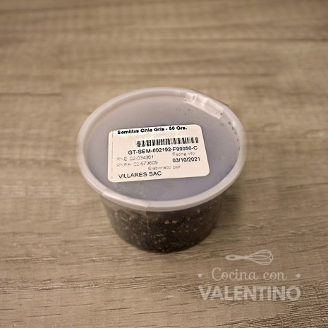 Semillas Chia Gris - 50 Grs.