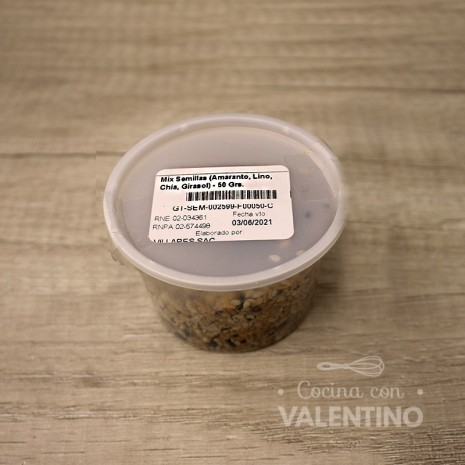 Mix Semillas (Amaranto. Lino. Chía. Girasol) - 50 Grs.