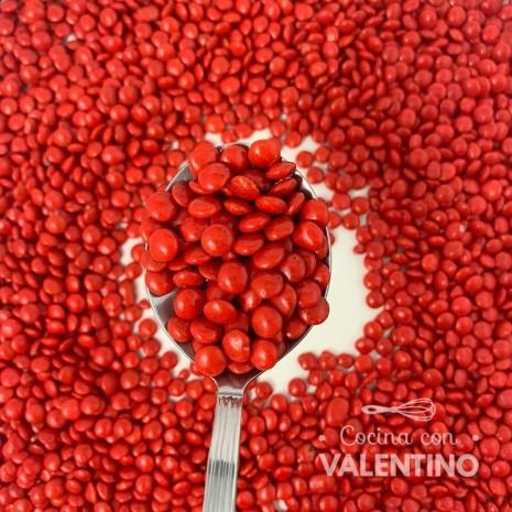 Lentejas Mini de Chocolate Rojo - 100 Grs.