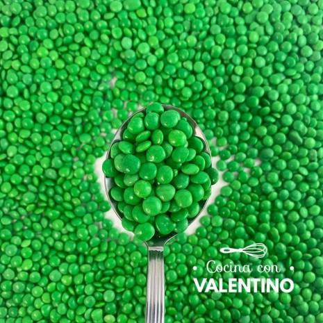 Lentejas Mini de Chocolate Verde - 100 Grs.