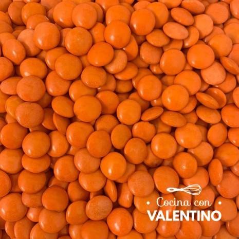 Lentejas de Chocolate Naranja - 100 Grs.