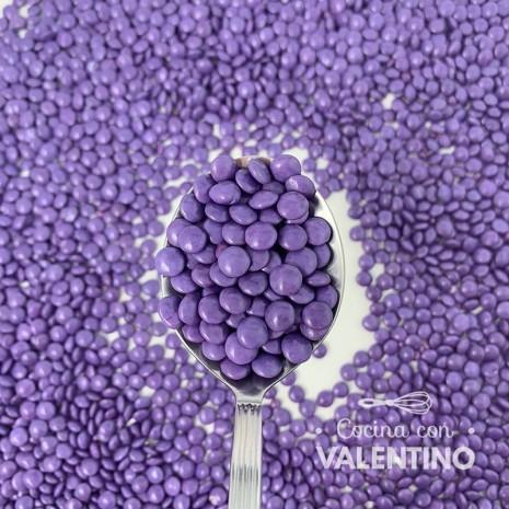 Lentejas Mini de Chocolate Violeta - 100 Grs.