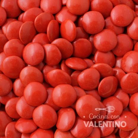 Lentejas de Chocolate Rojo - 100 Grs.
