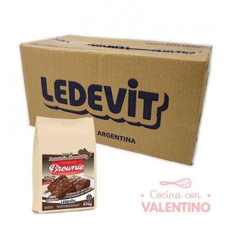 Mix Brownie Chocolate Ledevit x 470 g - Pack 12 Un.