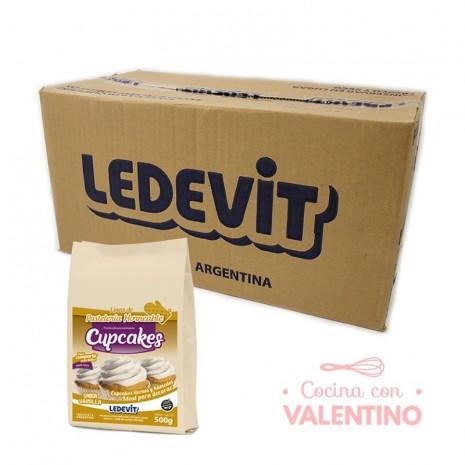 Mix Cupcake de vainilla Ledevit - 500Grs - Pack 12 Un.
