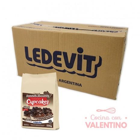 Mix Cupcake de chocolate Ledevit - 500Grs - Pack 12 Un.