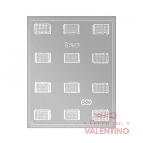Placa Parpen Rectángulos con textura P580