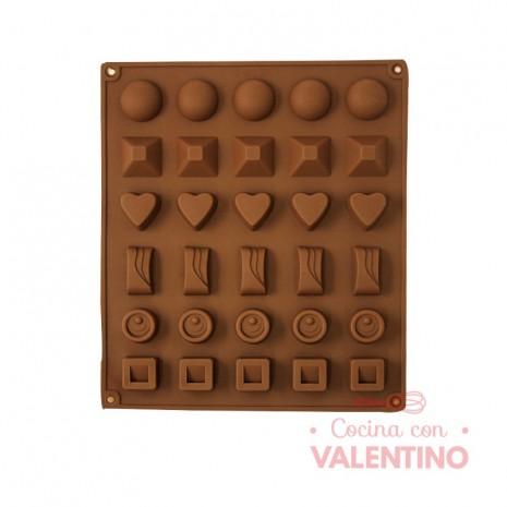 Molde de Silicona Para Bombones Chocolates