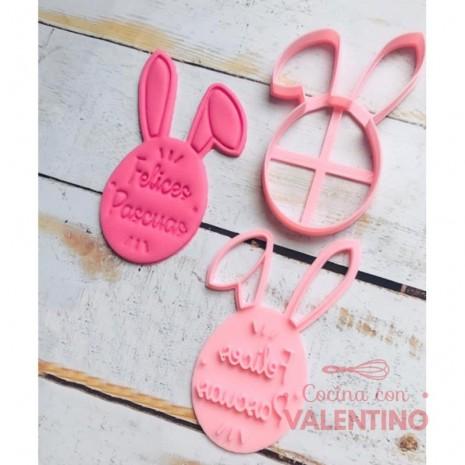 Cortante Cabeza Conejo Felices Pascuas 9 Cm Cookie Kutter