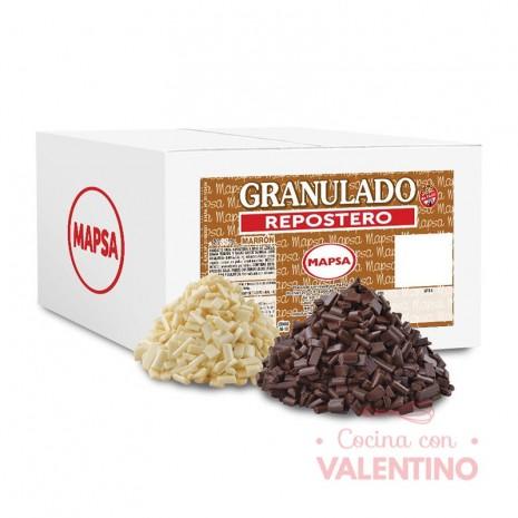 Chocolate Mapsa Granulado Repostero Blanco - 3Kg