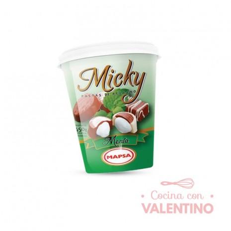 Pasta Relleno Micky Menta - 450Grs