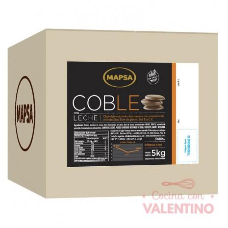 Chocolate Cobertura Mapsa Boton Coble Leche - 500Grs - Pack 6 Un.